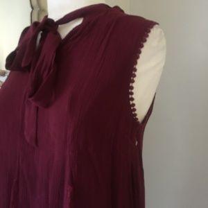 Xhilaration Dresses - Sleeveless dress by xhilaration, Wine color w/lace